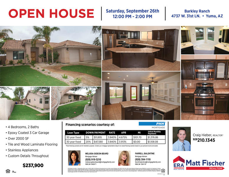 Upcoming Open Houses - ERA Matt Fischer Realtor | Real Estate Yuma ...